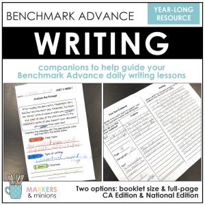 benchmark advance writing