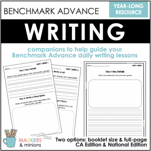 first grade benchmark advance