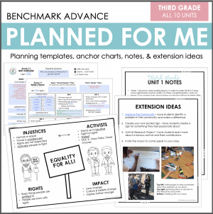 Third Grade Benchmark Advance Planned for Me Cover