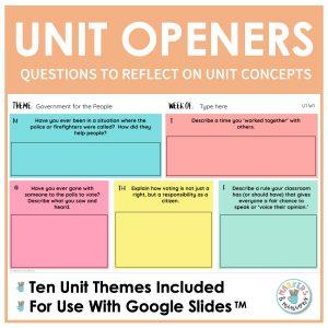 unit openers