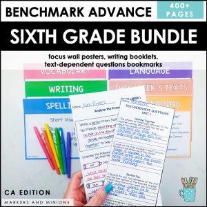 Benchmark Advance Sixth Grade Bundle