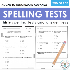 Benchmark Advance Spelling Tests
